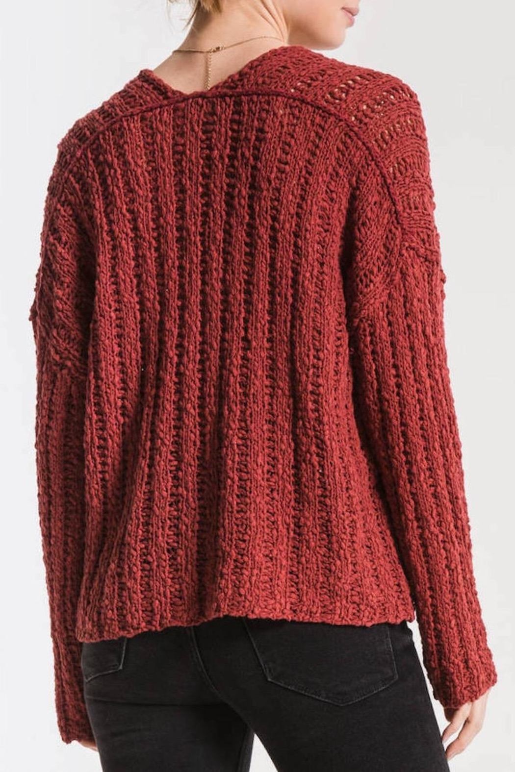 Others Follow  Leony Textured Sweater - Side Cropped Image
