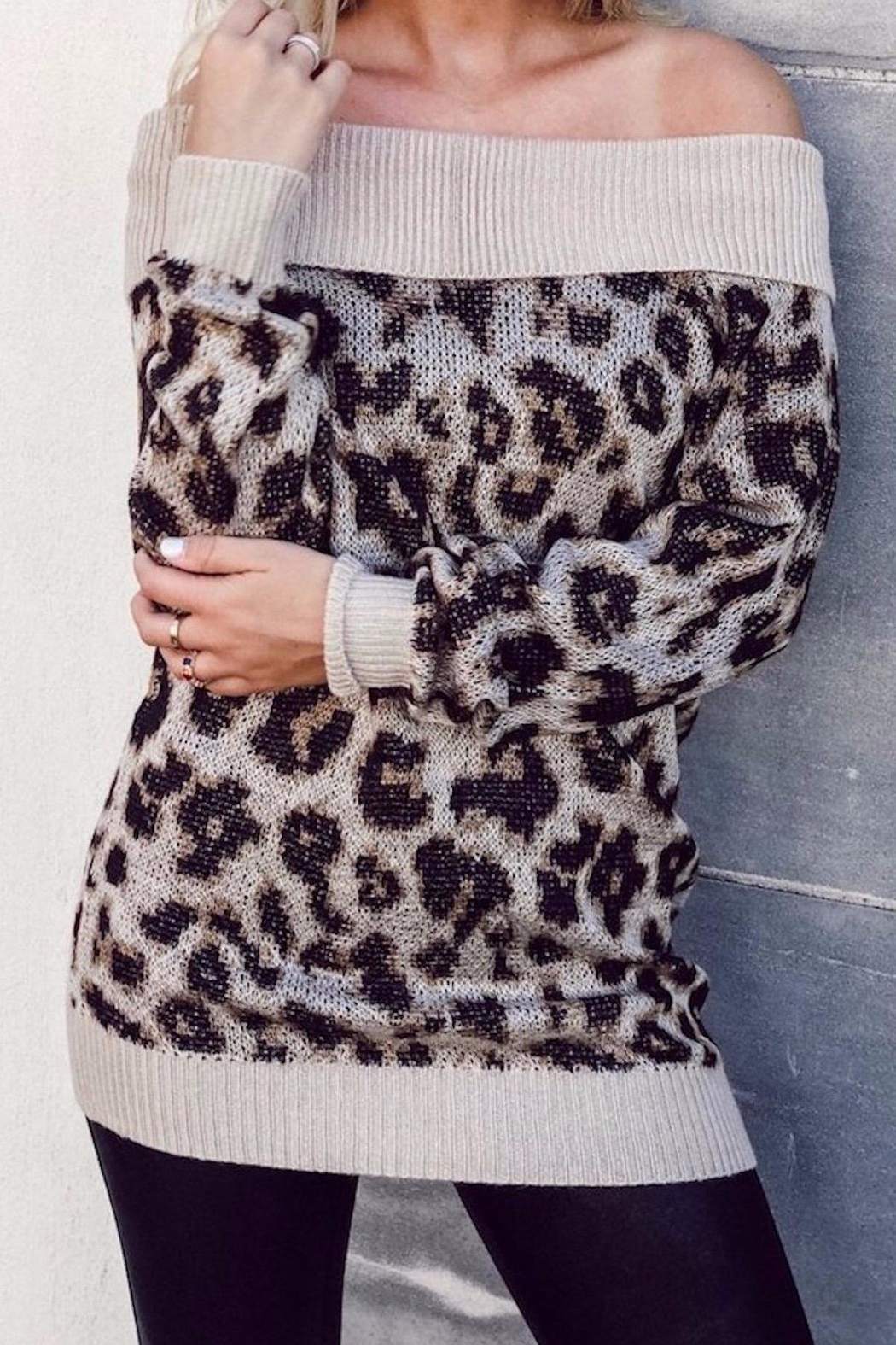 Others Follow  Leopard Off Shoulder - Main Image