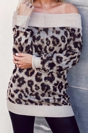 Others Follow  Leopard Off Shoulder - Front cropped