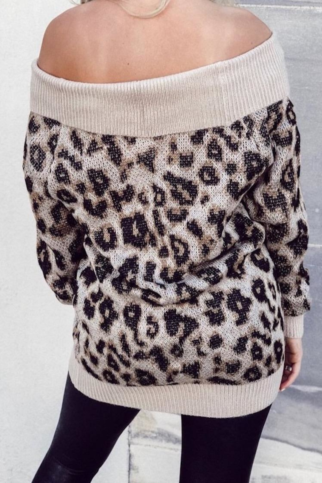Others Follow  Leopard Off Shoulder - Front Full Image
