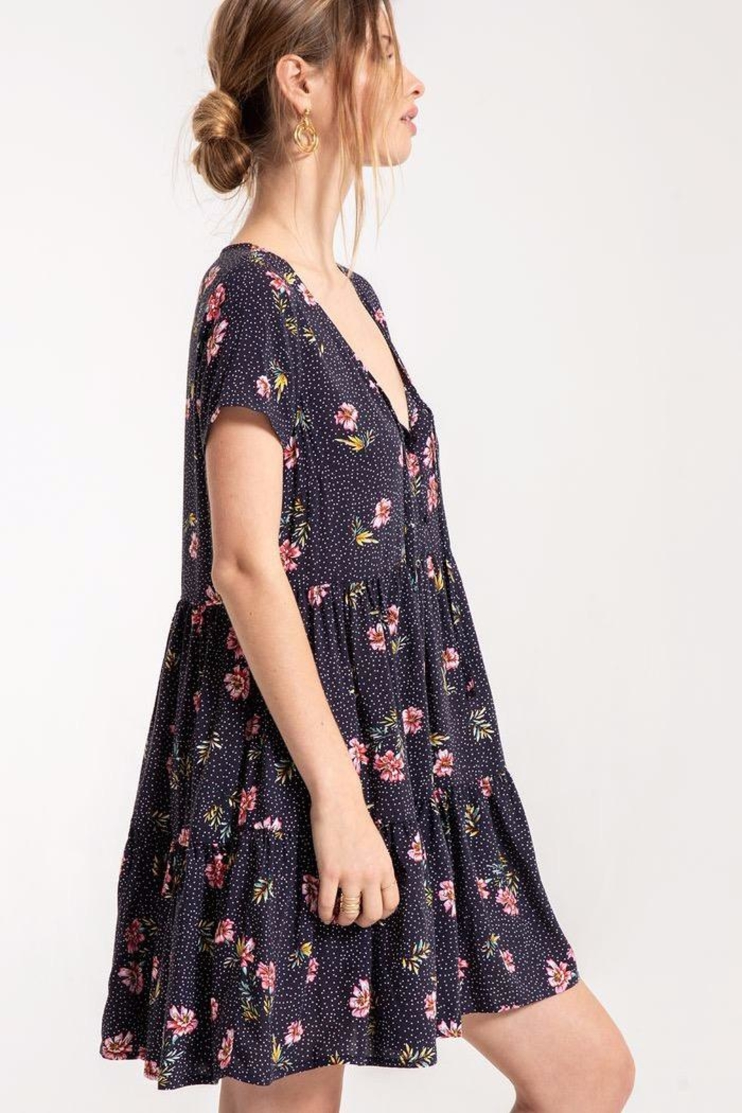 Others Follow  Lily Babydoll Dress - Side Cropped Image