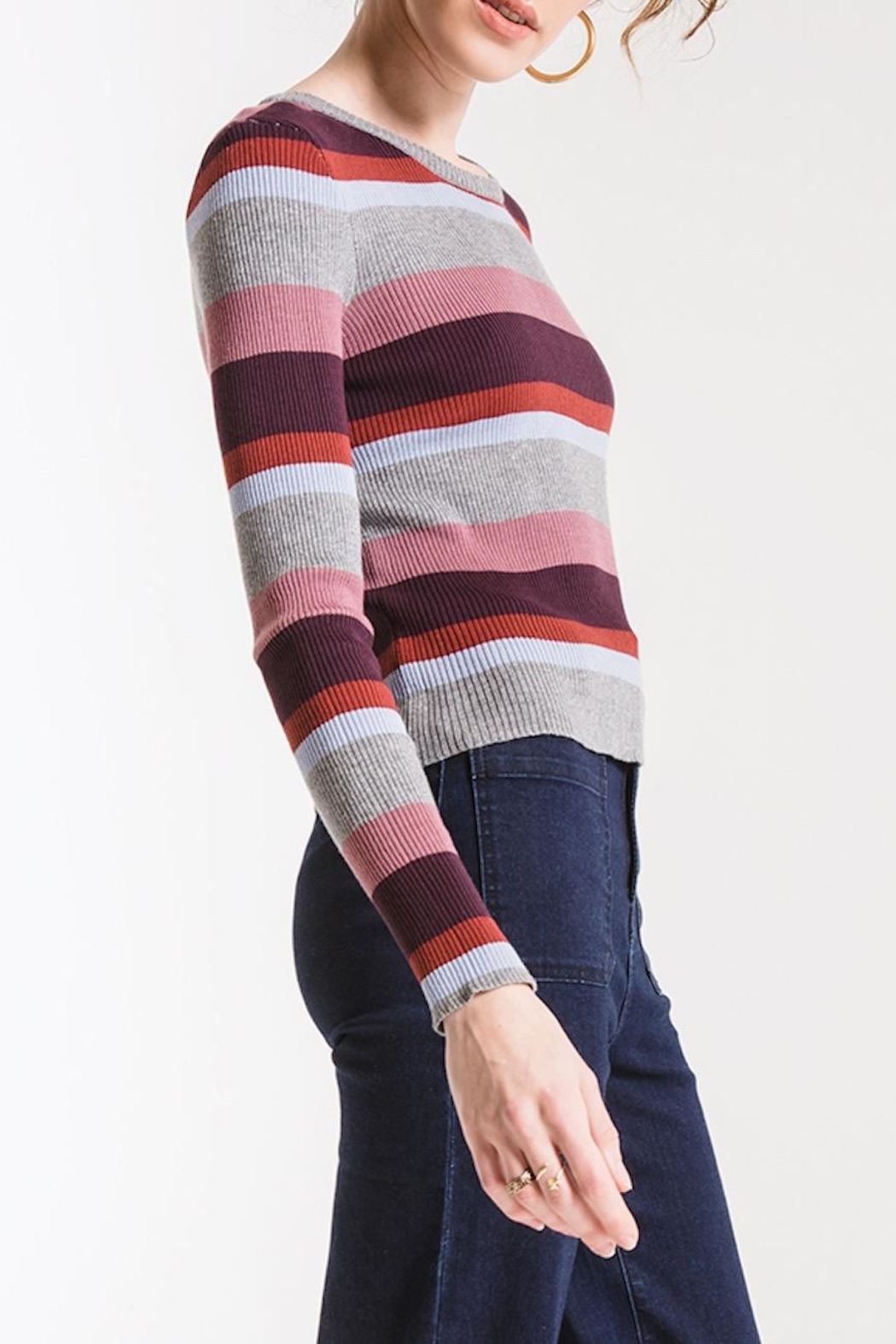 Others Follow  Madeline Striped Sweater - Side Cropped Image