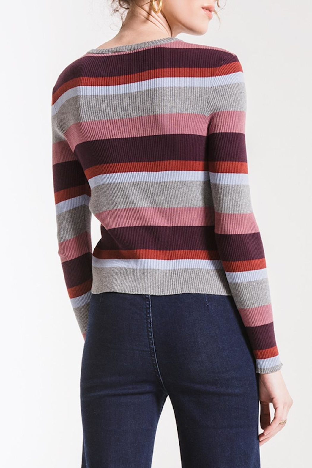 Others Follow  Madeline Striped Sweater - Front Full Image