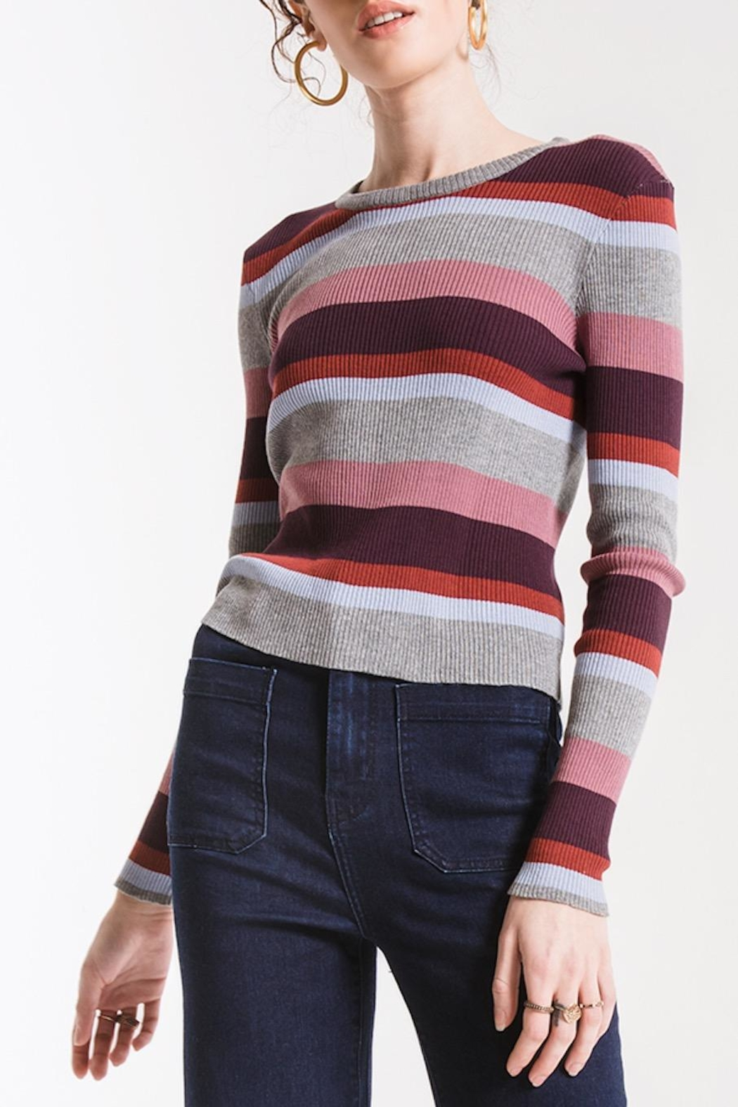 Others Follow  Madeline Striped Sweater - Main Image