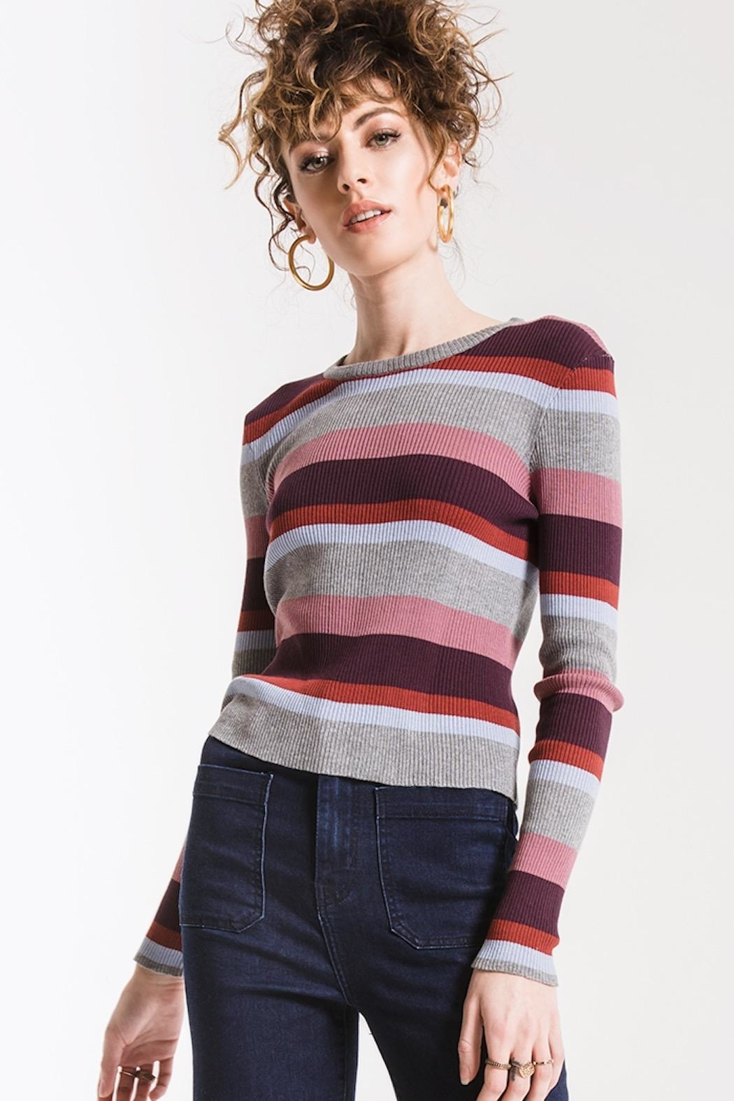 Others Follow  Madeline Striped Top - Main Image
