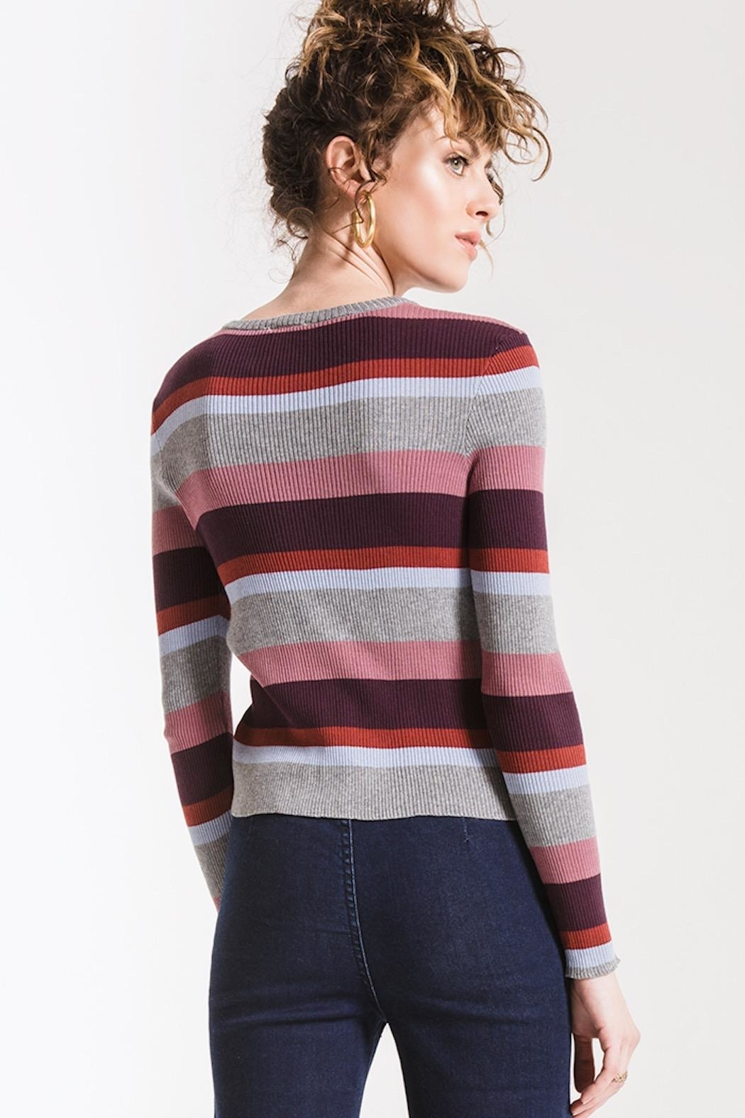 Others Follow  Madeline Striped Top - Side Cropped Image