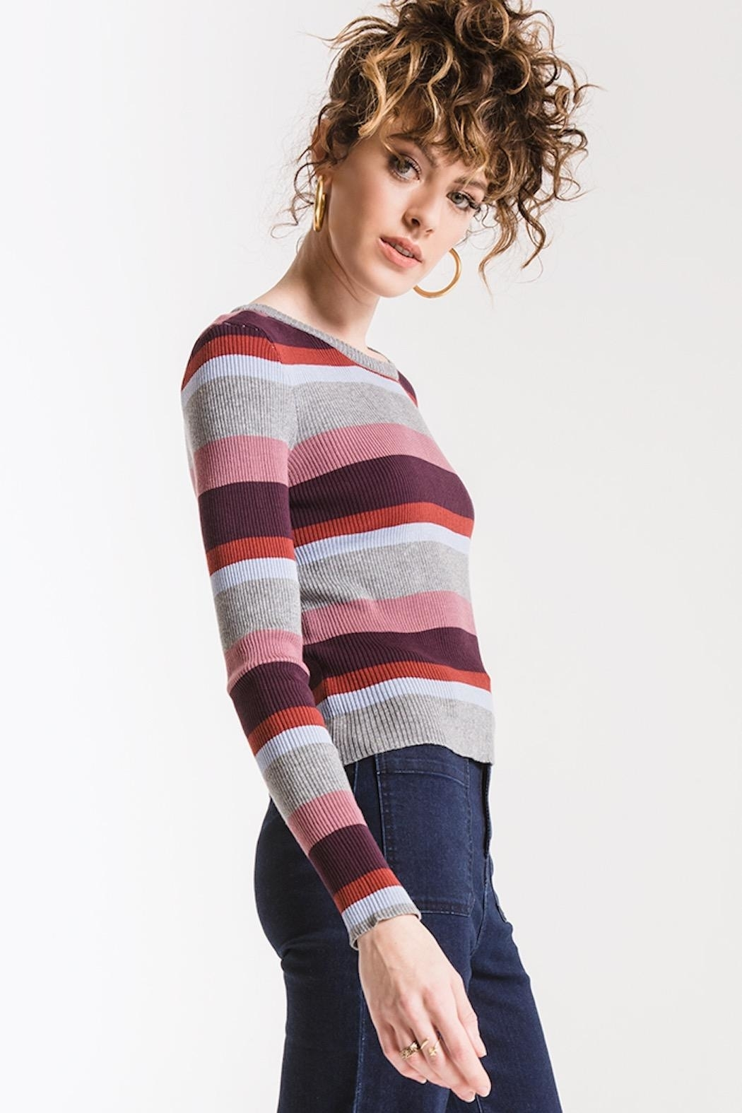 Others Follow  Madeline Striped Top - Front Full Image