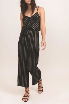 Shoptiques Product: Midnight Striped Jumpsuit