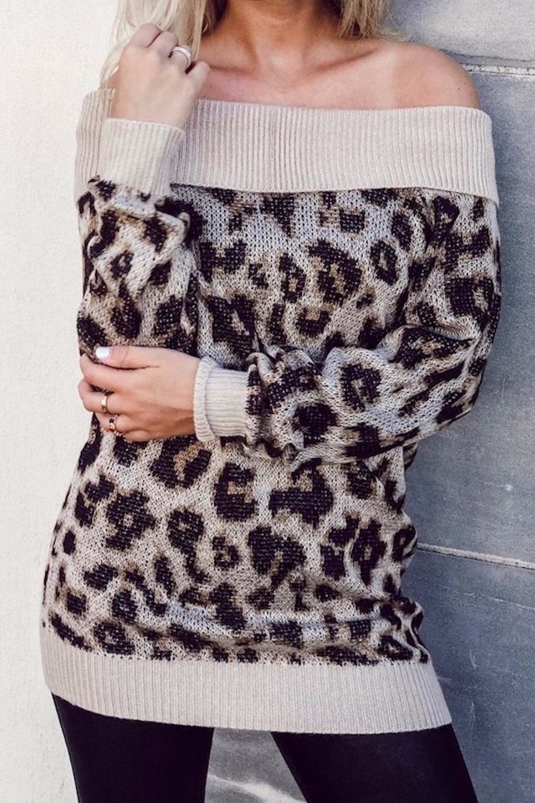 Others Follow  Off Shoulder Leopard - Main Image