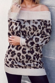 Others Follow  Off Shoulder Leopard - Front cropped