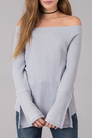 Others Follow  Off Shoulder Thermal Top - Product Mini Image