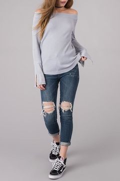Others Follow  Off Shoulder Thermal Top - Alternate List Image