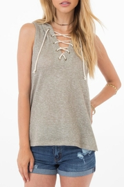 Others Follow  Paloma Lace-Up Hoodie - Product Mini Image
