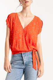 Others Follow  Printed Wrap Blouse - Product Mini Image