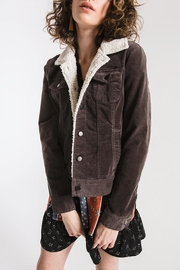 Others Follow  Sherpa-Accented Corduroy Jacket - Front cropped