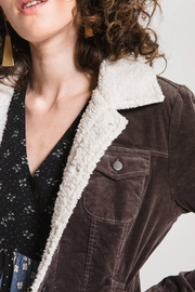 Others Follow  Sherpa-Accented Corduroy Jacket - Back cropped