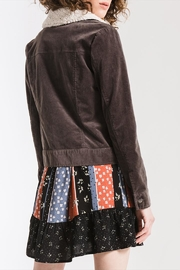 Others Follow  Sherpa-Accented Corduroy Jacket - Front full body