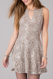 Others Follow  Silver Bliss Lace Dress - Product Mini Image