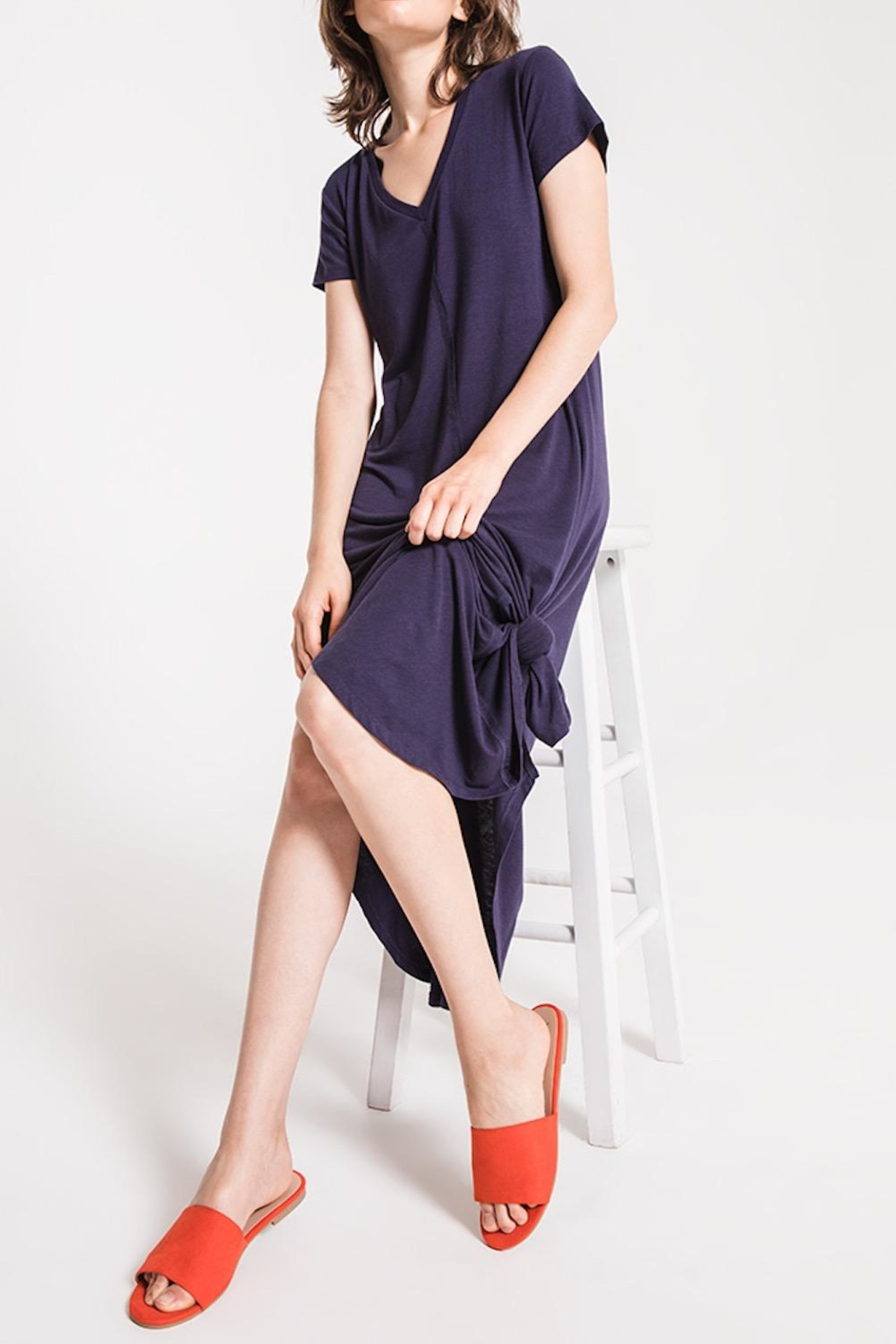Others Follow  T-Shirt Maxi Dress - Back Cropped Image