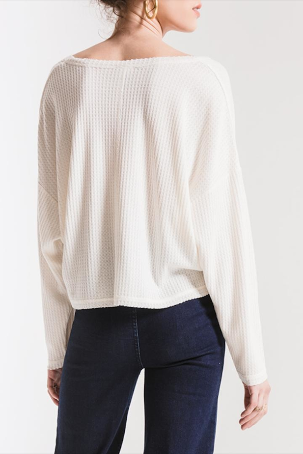 Others Follow  V-Neck Thermal Top - Side Cropped Image
