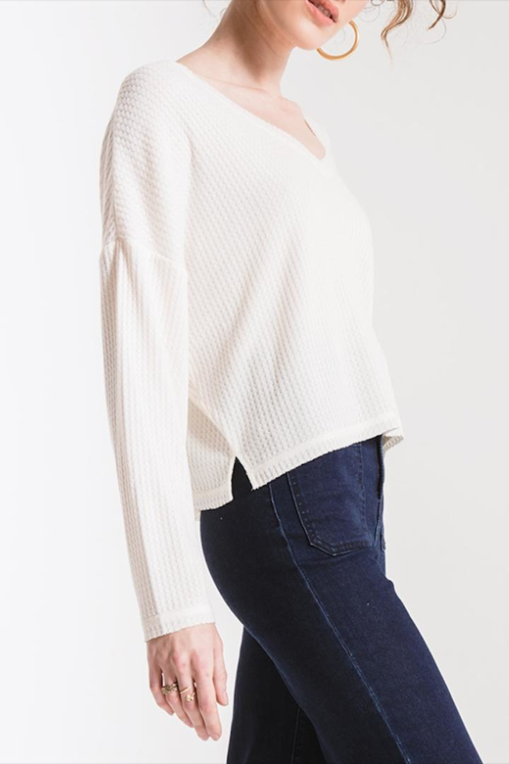 Others Follow  V-Neck Thermal Top - Main Image