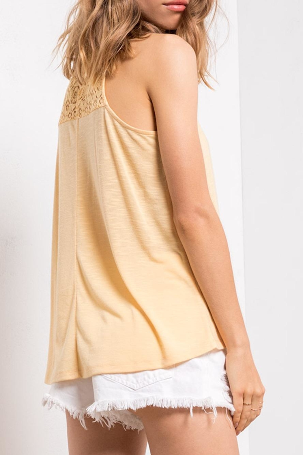 Others Follow  Yellow Lace Tank - Front Full Image