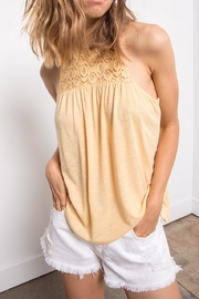 Others Follow  Yellow Lace Tank - Product Mini Image
