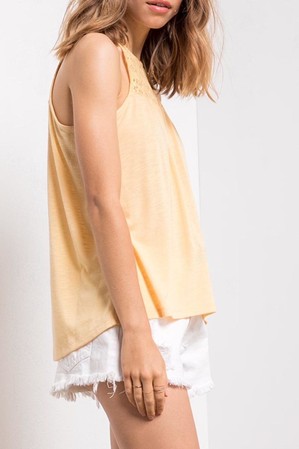 Others Follow  Yellow Lace Tank - Back Cropped Image
