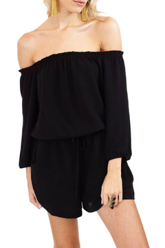 Veronica M OTS 3/4 Sleeve Woven Romper - Product List Image