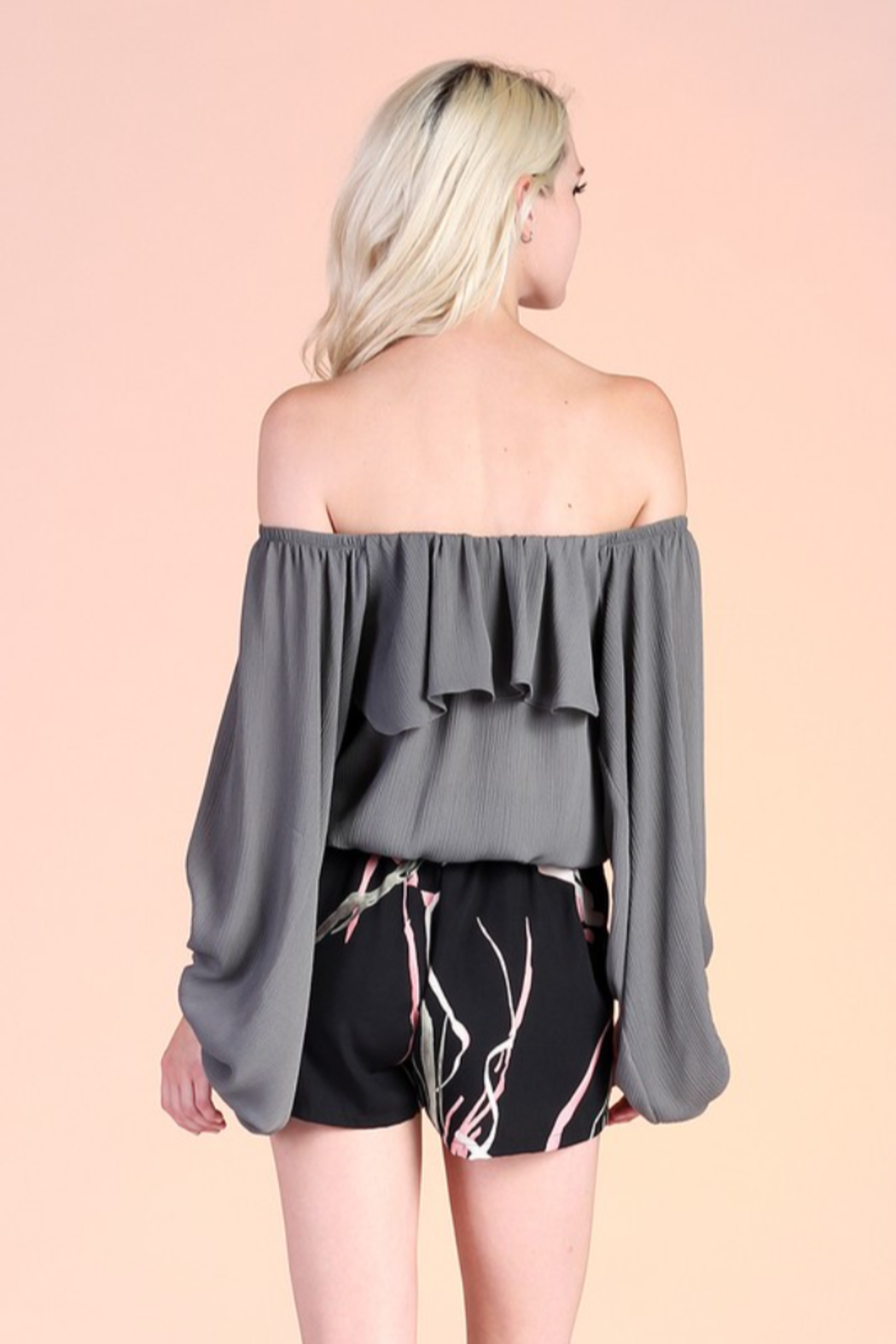 Tyche OTS Balloon Sleeve Blouse - Side Cropped Image