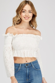 Alythea Ots Eyelet Top - Product Mini Image