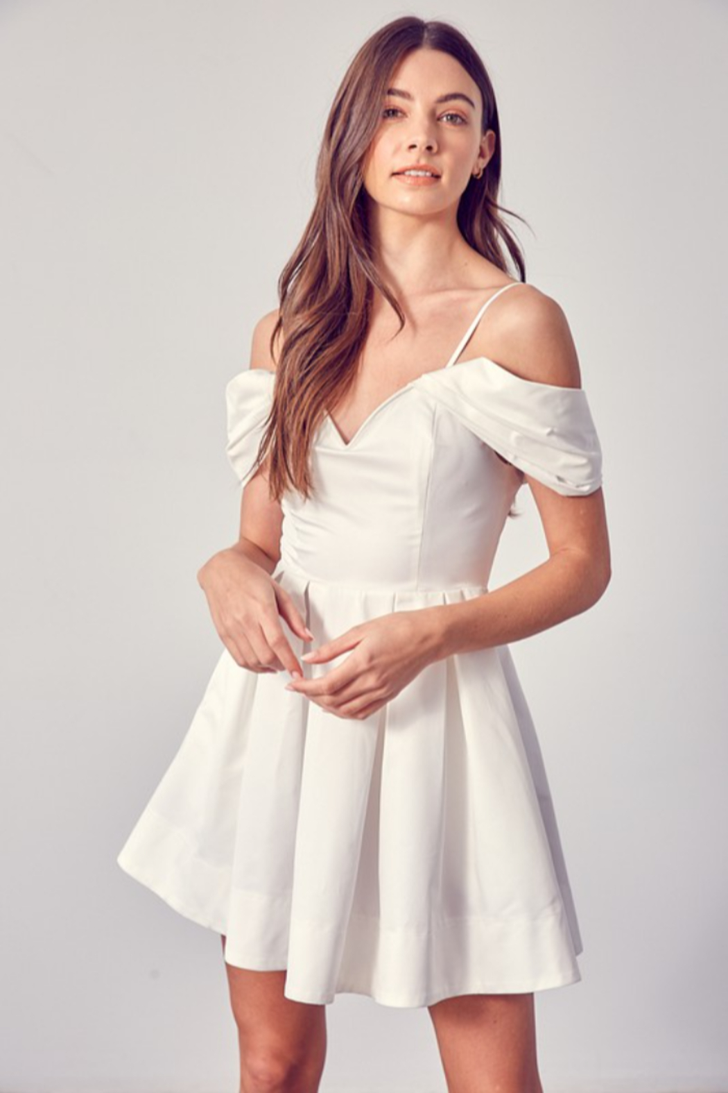 Do + Be  OTS Fit & Flare Dress - Front Cropped Image