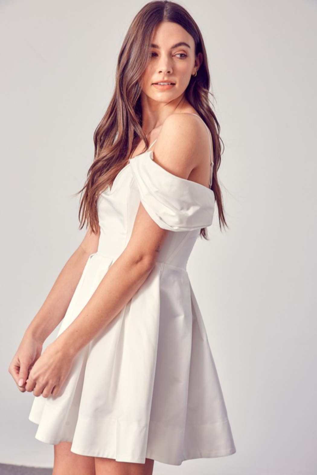 Do + Be  OTS Fit & Flare Dress - Front Full Image