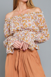 AAKAA OTS Floral Print Top - Product Mini Image