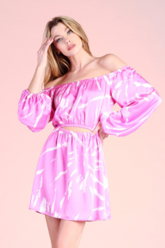Tyche OTS Printed Dress - Product List Image
