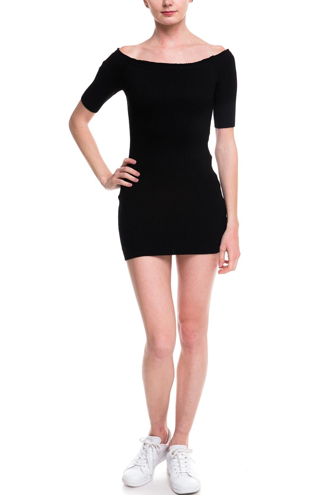 Noble U Ots Ribbed Dress - Main Image