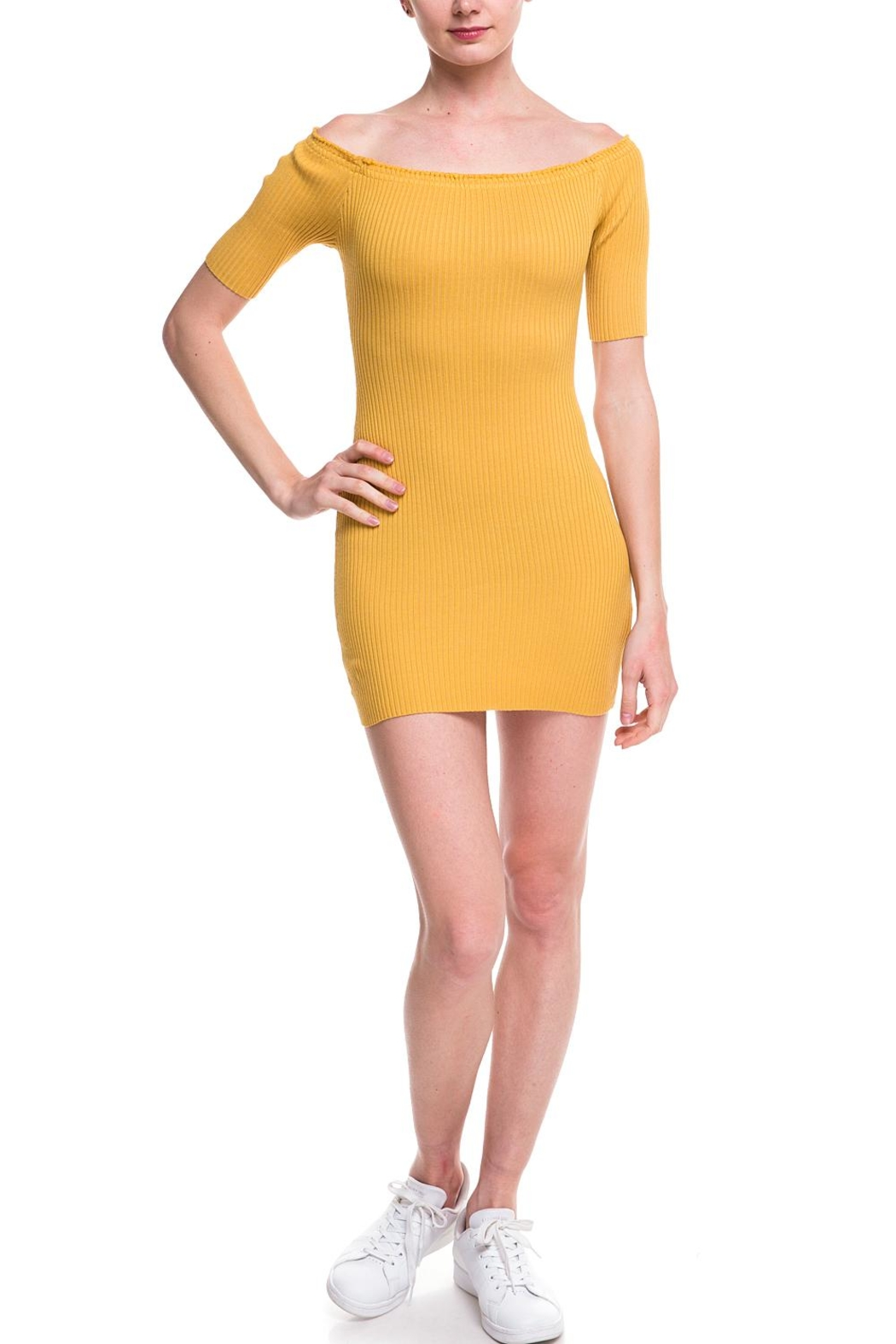 Noble U Ots Ribbed Dress - Front Cropped Image