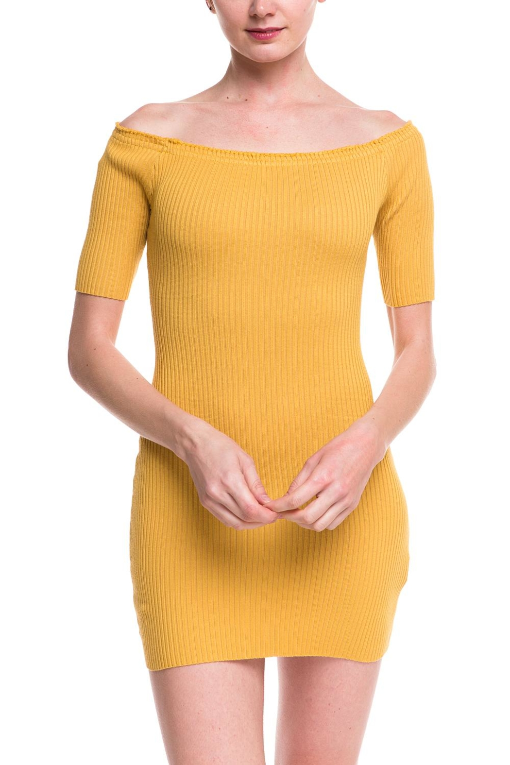 Noble U Ots Ribbed Dress - Front Full Image