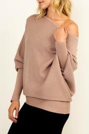 Olivaceous OTS Ribbed Sweater - Front full body
