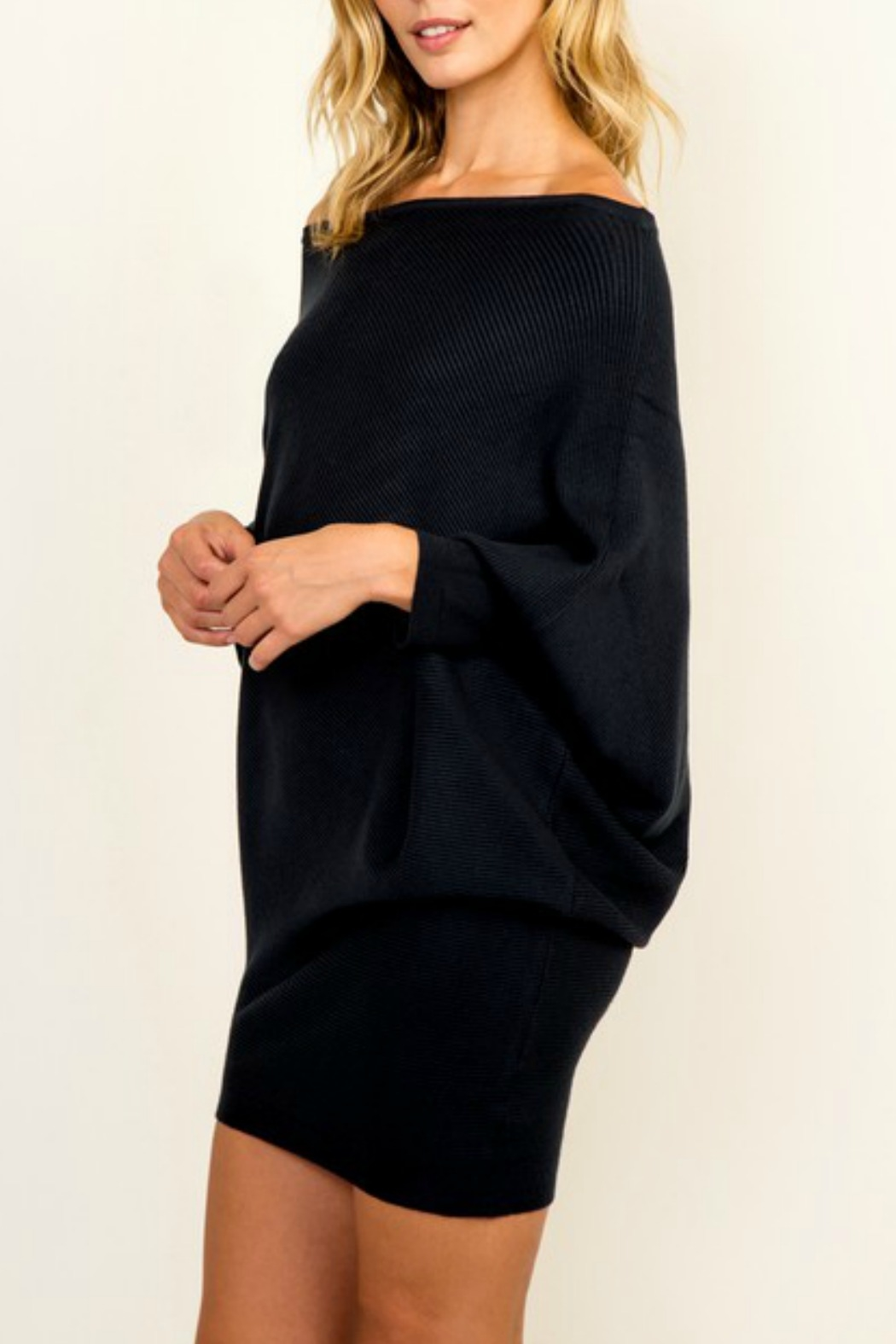 Olivaceous OTS Ribbed Sweater - Back Cropped Image