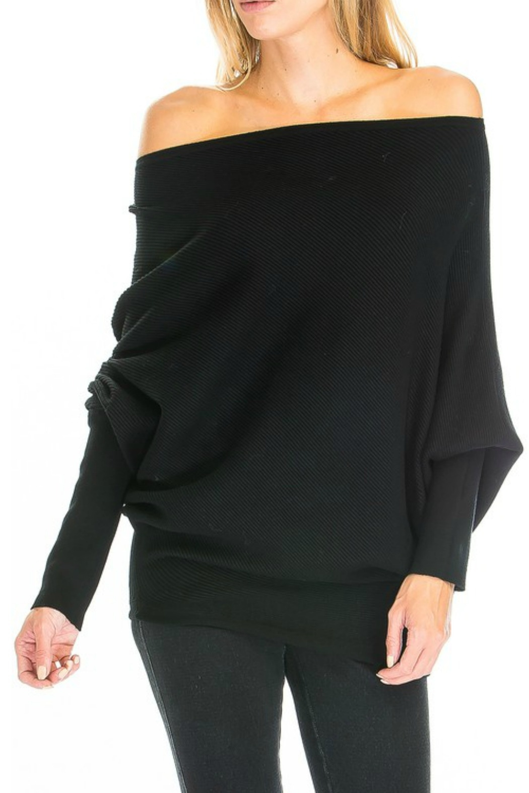 Olivaceous OTS Ribbed Sweater - Front Cropped Image