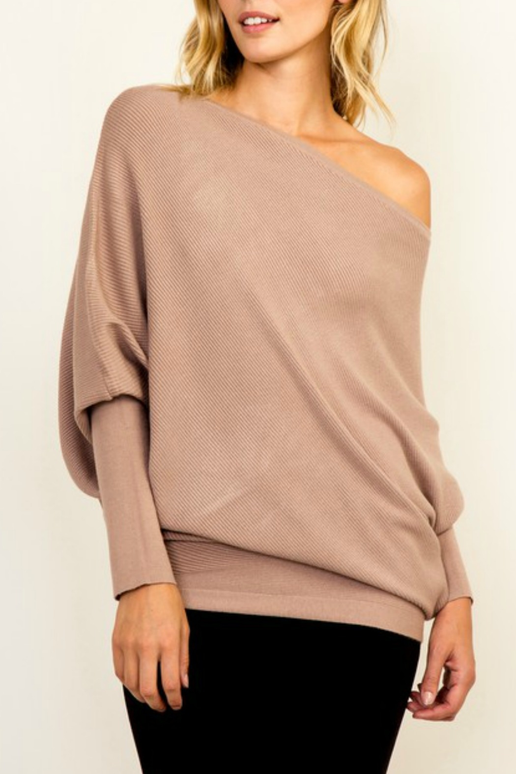 Olivaceous OTS Ribbed Sweater - Main Image