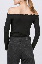 Pretty Little Things Ots Ribbed Top - Front full body