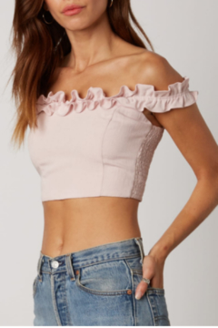 Cotton Candy OTS Ruffle Crop Top - Product List Image