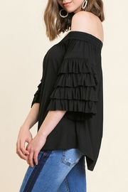 Umgee USA Ots Ruffle-Sleeve Top - Front full body