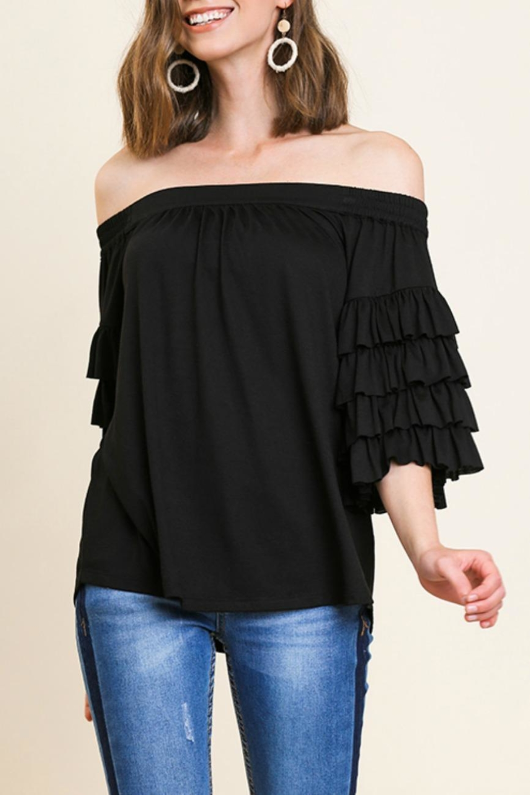 Umgee USA Ots Ruffle-Sleeve Top - Main Image