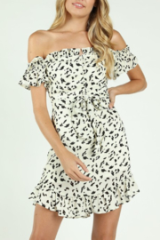 Wild Honey OTS Ruffle Trim Dress - Product Mini Image