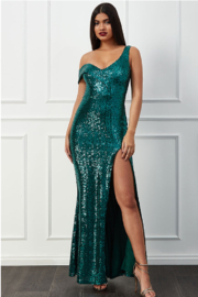 City Goddess  OTS Sequin Gown - Product Mini Image
