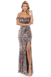 maniju OTS Sequin Gown - Product Mini Image