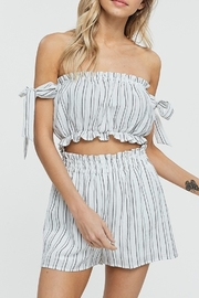 crescent OTS Stripe Crop Top - Product Mini Image